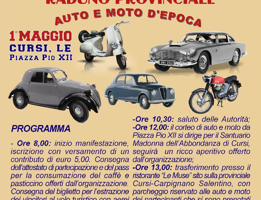 Raduno Provinciale Auto e Moto D'epoca Maggio 2019